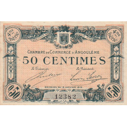 Angoulême - Pirot 9-20 - 50 centimes - 4ème série - 15/01/1915 - Etat : TTB-
