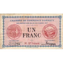 Annecy - Pirot 10-12 - 1 franc - R. 2e Série 228 - 24/10/1917 - Etat : TB