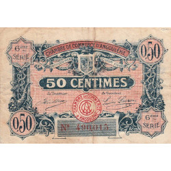 Angoulême - Pirot 9-46 - 50 centimes - 6ème série - 14/01/192 - Etat : B+