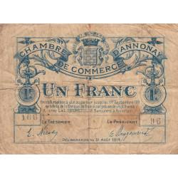 Annonay - Pirot 11-8 - 1 franc - 1914 - Etat : B