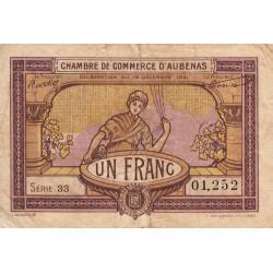 Aubenas - Pirot 14-2 - 1 francs - Série 33 - 19/12/1921 - Etat : B+ à TB-