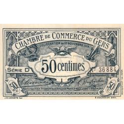 Auch (Gers) - Pirot 15-1 - 50 centimes - Série D - 18/11/1914 - Etat : NEUF