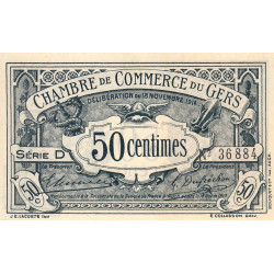 Auch (Gers) - Pirot 15-1 - Série D - 50 centimes - 1914 - Etat : NEUF