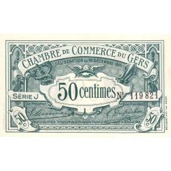 Auch (Gers) - Pirot 15-9-J - 50 centimes - 1916 - Etat : NEUF