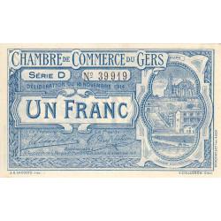 Auch (Gers) - Pirot 15-3 - Série D - 1 franc - 1914 - Etat : SPL+