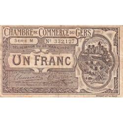 Auch (Gers) - Pirot 15-19b - Série M - 1 franc - 1920 - Etat : B+