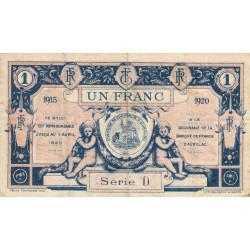 Aurillac (Cantal) - Pirot 16-4c - Série D - 1 franc - 1915 - Etat : TB