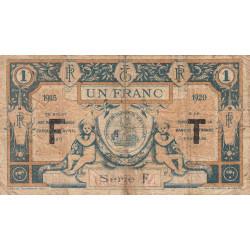 Aurillac (Cantal) - Pirot 16-8b - Série F - 1 franc - 1915 - Etat : B