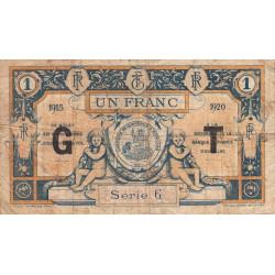 Aurillac (Cantal) - Pirot 16-10b - Série G - 1 franc - 1915 - Etat : B