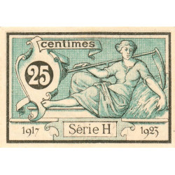 Aurillac (Cantal) - Pirot 16-11a-H - 25 centimes