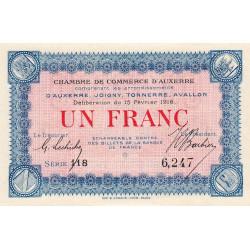 Auxerre - Pirot 17-8 - 1 franc - 1916 - Etat : NEUF