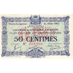 Avignon - Pirot 18-13 variété - 50 centimes - 11/08/1915 - Etat : SUP+