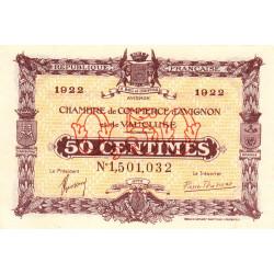 Avignon - Pirot 18-26 - 50 centimes - 26/10/1921 - Etat : NEUF