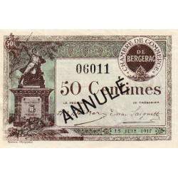 Bergerac - Pirot 24-26 - 50 centimes - 15/06/1917 - Annulé - Etat : SUP+
