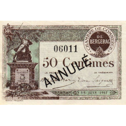 Bergerac - Pirot 24-26 - 50 centimes - Annulé - 1917 - Etat : SUP+