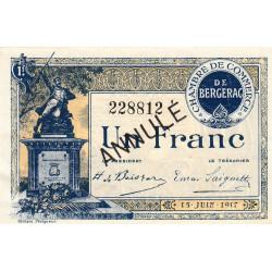 Bergerac - Pirot 24-29 - 1 franc - 15/06/1917 - Annulé - Etat : SUP+