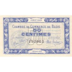 Blois (Loir-et-Cher) - Pirot 28-1 - 50 centimes - 16/08/1915 - Etat : SPL