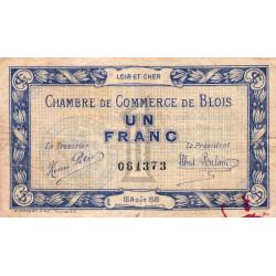 Blois (Loir-et-Cher) - Pirot 28-3 - 1 franc - 16/08/1915 - Etat : TB