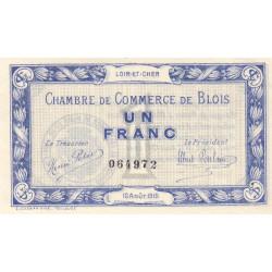 Blois (Loir-et-Cher) - Pirot 28-3 - 1 franc - 16/08/1915 - Etat : SUP+