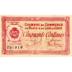 Blois (Loir-et-Cher) - Pirot 28-5 - 50 centimes - 1916 - Etat : TTB