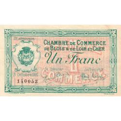 Blois (Loir-et-Cher) - Pirot 28-7 - 1 franc - 1916 - Etat : SUP+