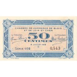 Blois (Loir-et-Cher) - Pirot 28-9 - 50 centimes - 02/07/1918 - Etat : SPL