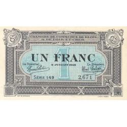 Blois (Loir-et-Cher) - Pirot 28-11 - 1 franc - 1918 - Etat : SPL