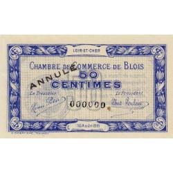 Blois (Loir-et-Cher) - Pirot 28-2 - 50 centimes - Annulé - 1915 - Etat : SUP+