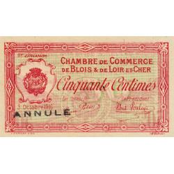 Blois (Loir-et-Cher) - Pirot 28-6 - 50 centimes - Annulé - 1916 - Etat : SUP+
