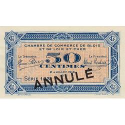 Blois (Loir-et-Cher) - Pirot 28-10 - 50 centimes - Annulé - 1918 - Etat : SUP+