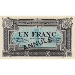 Blois (Loir-et-Cher) - Pirot 28-12 - 1 franc - Annulé - 1918 - Etat : SUP+