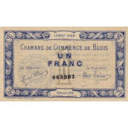 Blois (Loir-et-Cher) - Pirot 28-3 - 1 franc - 16/08/1915 - Etat : TTB
