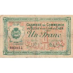 Blois (Loir-et-Cher) - Pirot 28-7 - 1 franc - 03/10/1916 - Etat : B+