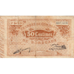 Bordeaux - Pirot 30-4 - 50 centimes - Série R - 1914 - Etat : B
