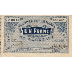 Bordeaux - Pirot 30-8 - 1 franc - Etat : TTB