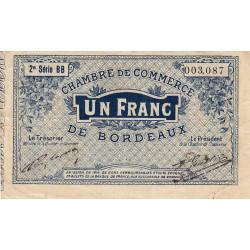 Bordeaux - Pirot 30-8 - 1 franc- Série BB - 1914 - Etat : TTB