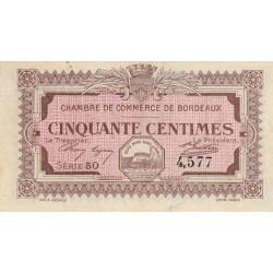 Bordeaux - Pirot 30-11 - 50 centimes - Série 50 - 1917 - Etat : TB+