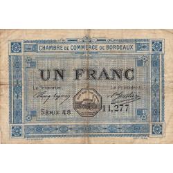 Bordeaux - Pirot 30-14 - 1 franc- Série 48 - 1917 - Etat : B+