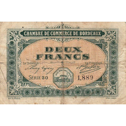Bordeaux - Pirot 30-17 - 2 francs - 1917 - Etat : B+