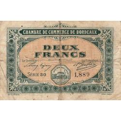 Bordeaux - Pirot 30-17 - 2 francs- Série 30 - 1917 - Etat : B+