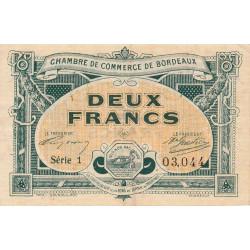 Bordeaux - Pirot 30-23 - 2 francs- Série 1 - 1917 - Etat : TTB