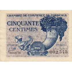 Bordeaux - Pirot 30-28 - 50 centimes - 1921 - Etat : TB+