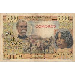 Comores - Pick 6a - 5'000 francs - 1950 - Etat : B-