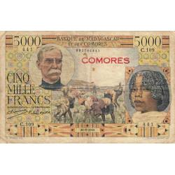 Comores - Pick 6a - 5'000 francs - 1950 - Etat : B+