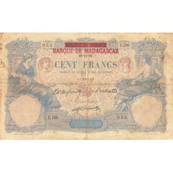 Madagascar - Pick 34 - 100 francs - 1926 - Etat : B