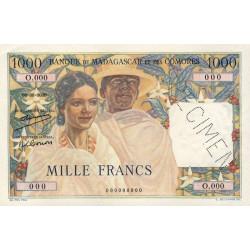 Madagascar - Pick 48as - 1'000 francs - Spécimen - Etat : SPL