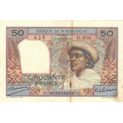 Madagascar - Pick 45a - 50 francs - 1950 - Etat : TB+