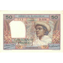 Madagascar - Pick 45a - 50 francs - 1950 - Etat : SUP+
