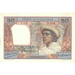 Madagascar - Pick 45a - 50 francs - 1950 - Etat : SUP