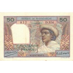 Madagascar - Pick 45a - 50 francs - 1950 - Etat : TTB-
